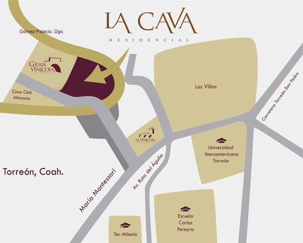 mapa la cava residencial
