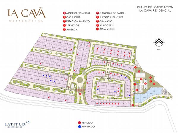 la cava residencial mapa